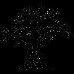 Tattoo mit altem Olivenbaum