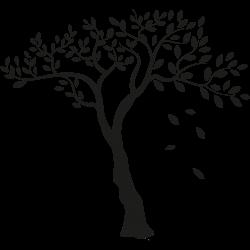 Baum mit fallenden Blättern