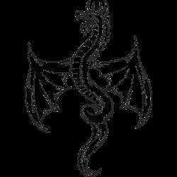 Drachen Tattoo Vorlage Stock Illustration Adobe Stock