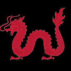 Chinesischer Drachen in Rot