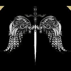 Engelsflügel mit Schwert