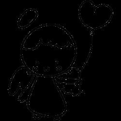 Engel mit Herz-Lufballon