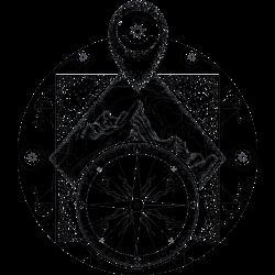 Tattovorlage Kompass 4