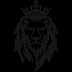 Löwe mit Krone frontal