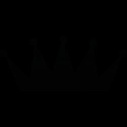 Einfache Krone für kleines Tattoo