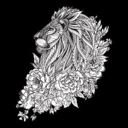 Löwe Tattoo-Vorlage 19