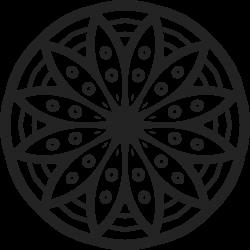 Mandala Tattoo-Vorlage 8