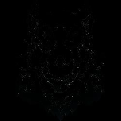 Wolf mit Kopfhörer