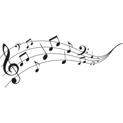 Musiknoten-Tätowierung