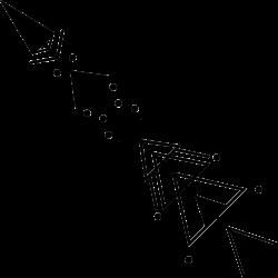 Pfeil mit geometrischen Formen