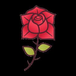 Rose Vorlage 24