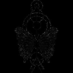 Geometrisches Tattoo mit Schmetterling
