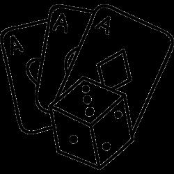 Spielkarten und Würfel