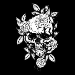 Totenkopf Tattoo-Vorlage 8