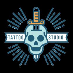 Totenkopf Tattoo-Vorlage 19