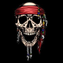 Totenkopf Tattoo-Vorlage 29