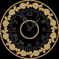 Uhr Vorlage 12