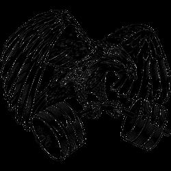 Adler mit Gewichten
