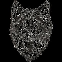 Realistisches Wolf-Tattoo