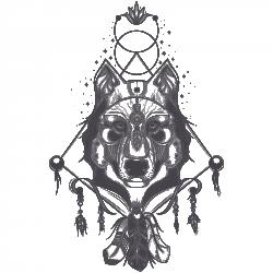 Traumfänger und Wolf
